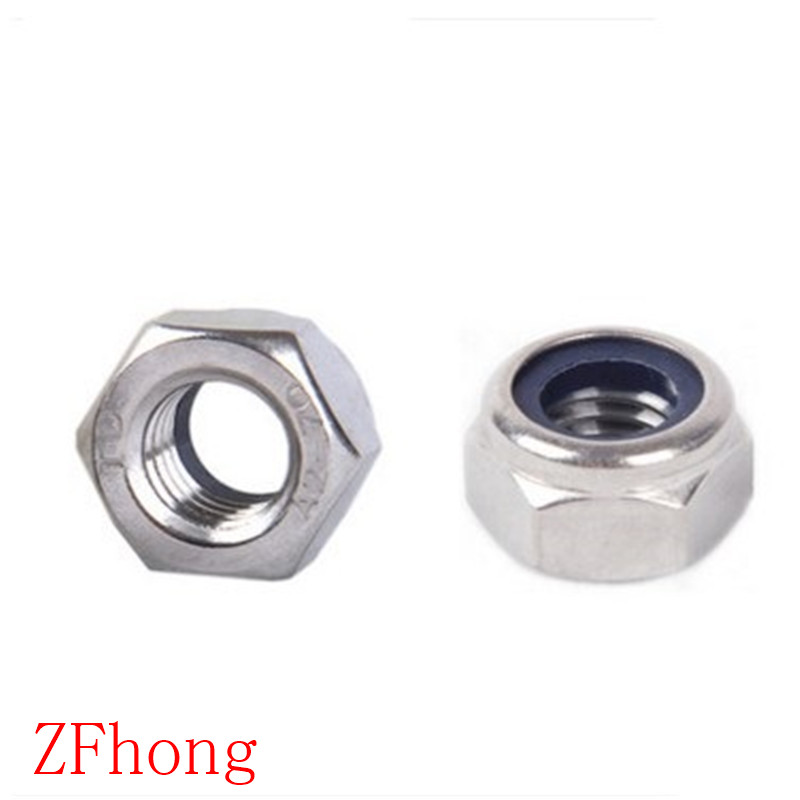 1//4 x 20 Stainless Steel Nylon Insert Lock Stop Nyloc Nuts 1//4-20 Nut 100