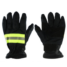 Wear-Resistance Non-slip Thicken Safety Gloves Fire Proof Gloves 3M Reflective Strap Fire Resistant Gloves for Firefighter