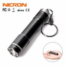 NICRON Mini Key Chain Flashlight 24M Beam Distance 0.5W 20LM 1xAAA Battery 10Hours Waterproof IPX4 For Home LED Torch N1 Outdoor(China)