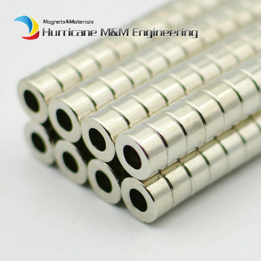 NdFeB Aimant diamètre de la bague 10x5x5mm Aimanté Axialement Forte Aimant Néodyme Permanent Rare Earth Aimants 50- 1000 pièces