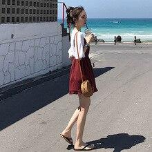 Summer Casual 2 Piece Set Women Half Sleeves White Tops Elas