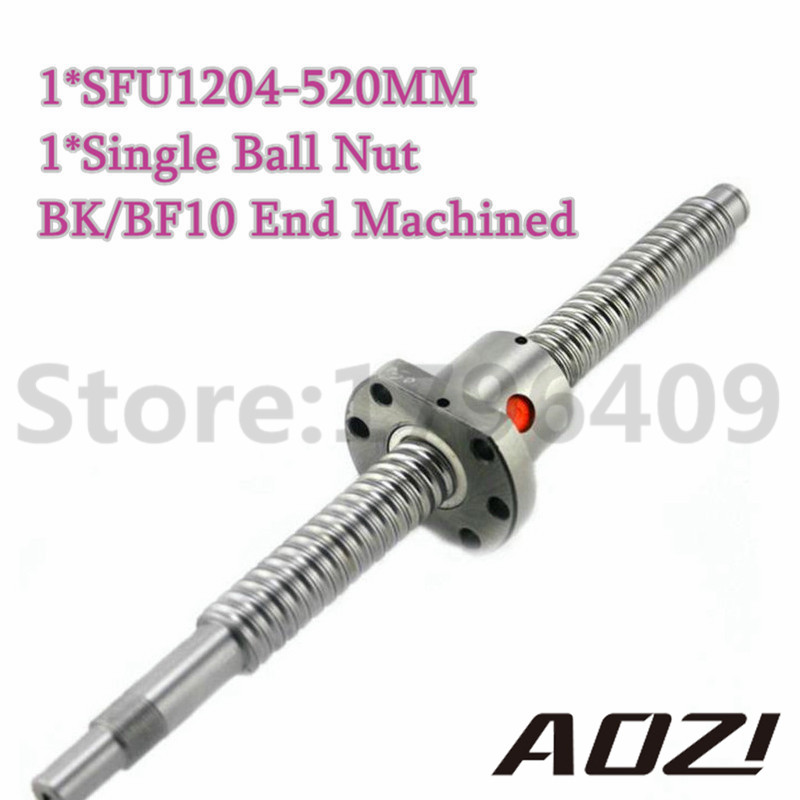 Total Length 520mm Ball Screw SFU1204 With End Machined And 1pc Single Ballnut For CNC Parts Free Shipping High Quality ролевые игры smoby гладильная доска c утюгом tefal