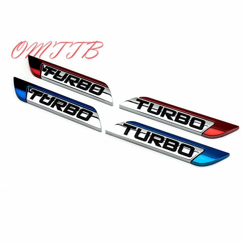 3D Metal TURBO Emblem Sticker Body Rear Tailgate Badge Car cover For Ford Focus 2 3 ST R ...