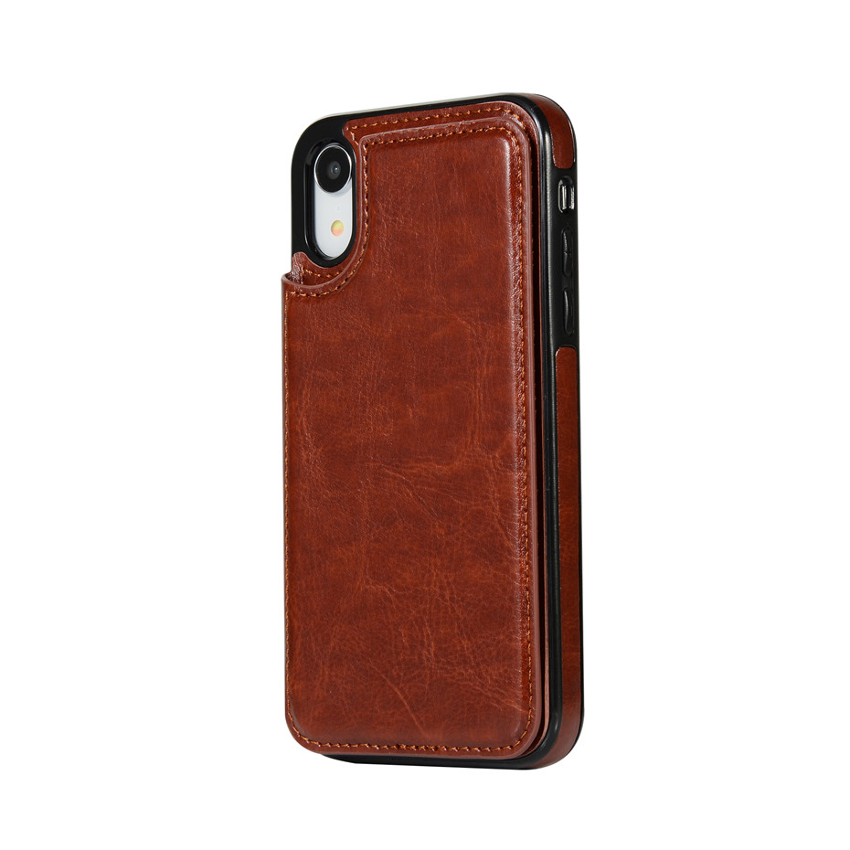 HTB1UudwSNnaK1RjSZFtq6zC2VXaW Luxury Slim Fit Premium Leather Cover For iPhone 11 Pro XR XS Max 6 6s 7 8 Plus 5S Wallet Case Card Slots Shockproof Flip Shell