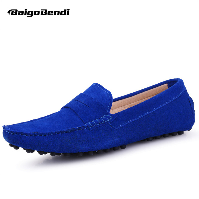 Men's Casual Slip-On Leather Penny Loafer Low-Top Shoes