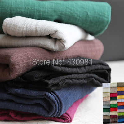100cm*140cm Ethnic linen cotton crepe fabric crinkled sluby material for curtain scarf dress