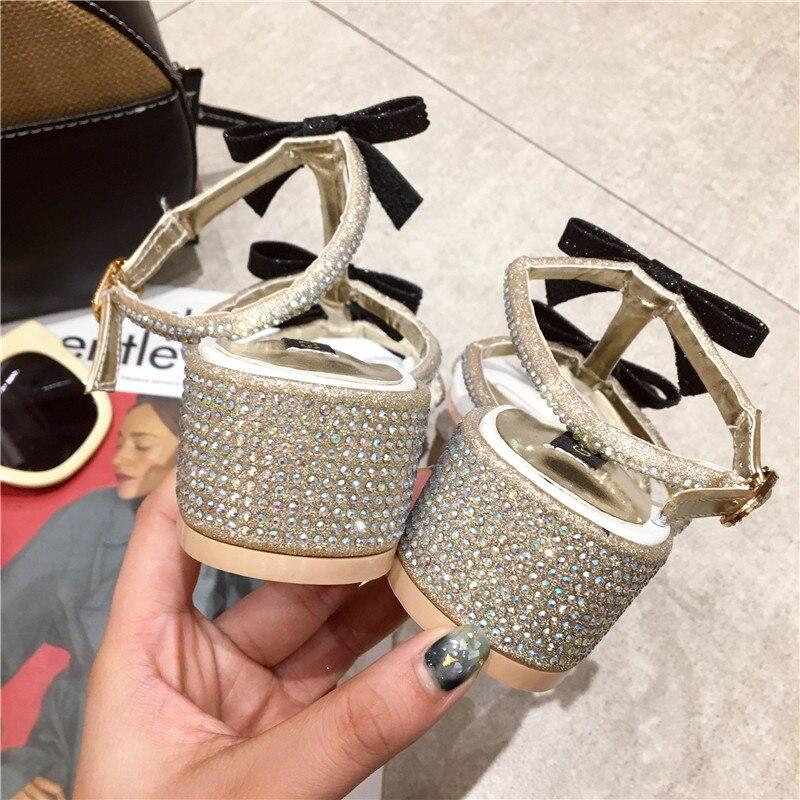 1cbbd4bc8d6d9e HTB1UueIwCBYBeNjy0Feq6znmFXaH New Women Summer Sandals Bling Bling Crystal  Bowknot Decor Sandals Runway Chunky Heels Pumps Gladiator