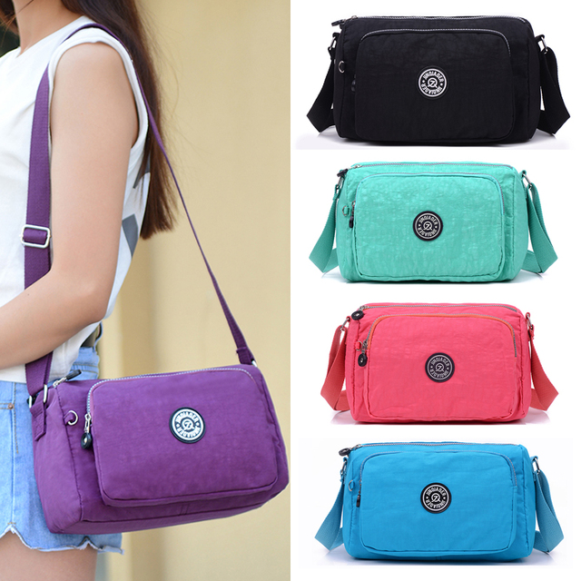 2017 JINQIAOER Brand Waterproof Nylon Shoulder Sling Bag Quality Kip Style  Monkey Messenager Crossbody Bags for Women Handbag 527c0725f