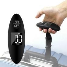 Báscula electrónica Digital LCD para equipaje, báscula para maletas portátil, bolsa de viaje, pesaje, gancho para colgar balanza, 40kg/100g, 1 ud.