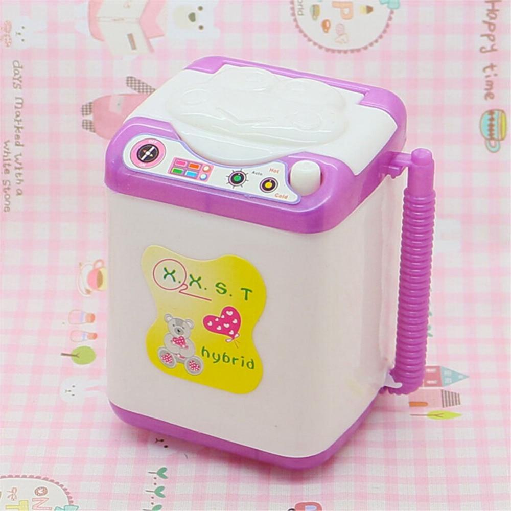 Новый 1 шт. Кукольный дом Интимные аксессуары мини стиральная машина игрушка разные цвета подарок на день рождения для детей оптовая продаж...