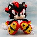 1 ШТ. Плюшевые Игрушки 29 см черный Sonic The Hedgehog Плюшевые Куклы Мягкие Фаршированная Рисунок Куклы Брелок Дети Подарок бесплатная доставка