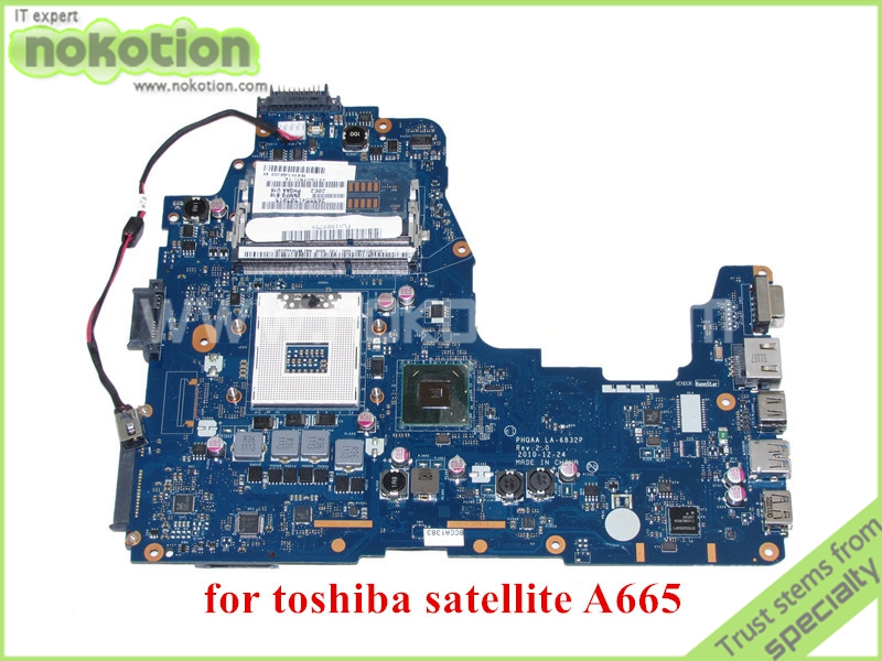 NOKOTION PHQAA LA-6832P REV 2.0 MB K000125610 For toshiba satellite A660 A665 Motherboard HM65 nokotion pt10an dsc mb rev 2 1 laptop motherboard for toshiba satellite c50 c50d em2100 cpu amd 216 0841000 ddr3 mainboard
