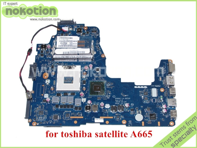 NOKOTION PHQAA LA 6832P REV 2.0 MB K000125610 For toshiba satellite A660 A665 Motherboard HM65