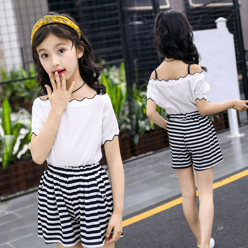 Tween Girl Fashion Black: Teenage Girls Clothing Sets Outfits Black Clothes White