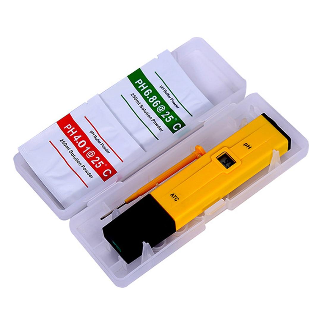 1pcs Portátil Digital Medidor de PH Tester Medidor Pen Medidor de PH 0.0-14.0 PH De Alta Precisão para a Bebida e Comida monitor de PH de laboratório