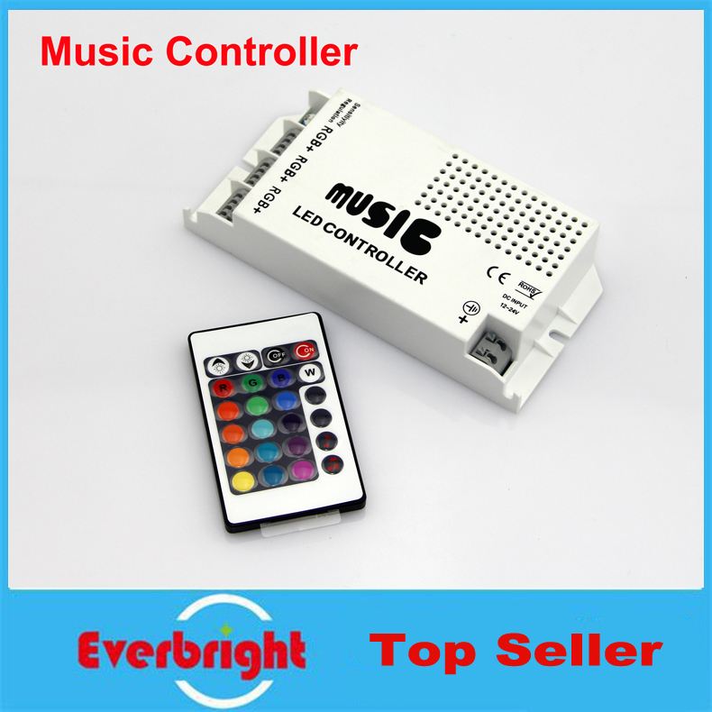 100 Pcs/lot 24 Keys Wireless IR Remote Control LED Music Sound Control RGB Led Controller 12-24V Dimmer For RGB LED Strips