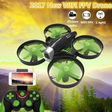 2017 new attitude hold aerial WIFI FPV camera rc drone HC-630 2.4G headless mode mini pocket APP remote control helicopter toy