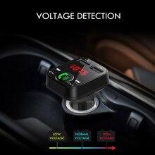 Kit Mains Libres Voiture Sans Fil Bluetooth Transmetteur FM LCD MP3 Lecteur USB Chargeur 2.1A Mains Libres