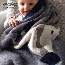 Newborn Breathable Baby Blankets Fox Rabbit Knitted Cartoon Baby Swaddle Bath Towels Kid Soft Wrap Throw Blanket 120*80CM ka5091