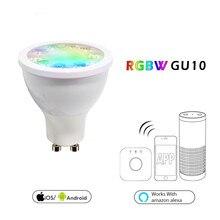 LED Light Bulb GU10 5W Soposh RGB + Dual White Spotlight AC100-240V Color Changeing APP Controller Dimmable Smart