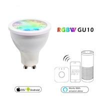 LED Light Bulb GU10 5W Soposh RGB + Dual White LED Spotlight AC100 240V Color Changeing Spotlight APP Controller Dimmable Smart