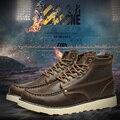 2016 Nueva Marca de Invierno Casual Botas de Los Hombres de Cuero Genuino Suave Cómoda Plataforma Australiana Hombre Botas Militares Zapatos de Trabajo 38-44