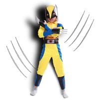 Halloween Boy Avengers Wolverine Suit Kids Clothes Cosplay Costumes Superman Superhero Party Mask
