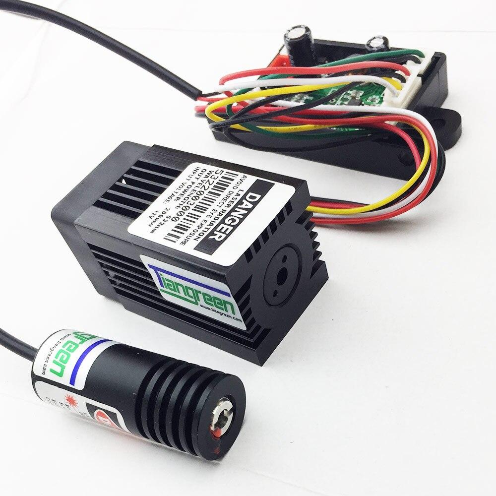 Nuovo Arrivo 532nm 200 mW Laser Verde + 100 mW 650nm Red Laser Diode Module TTL Fase di Illuminazione FAI DA TE