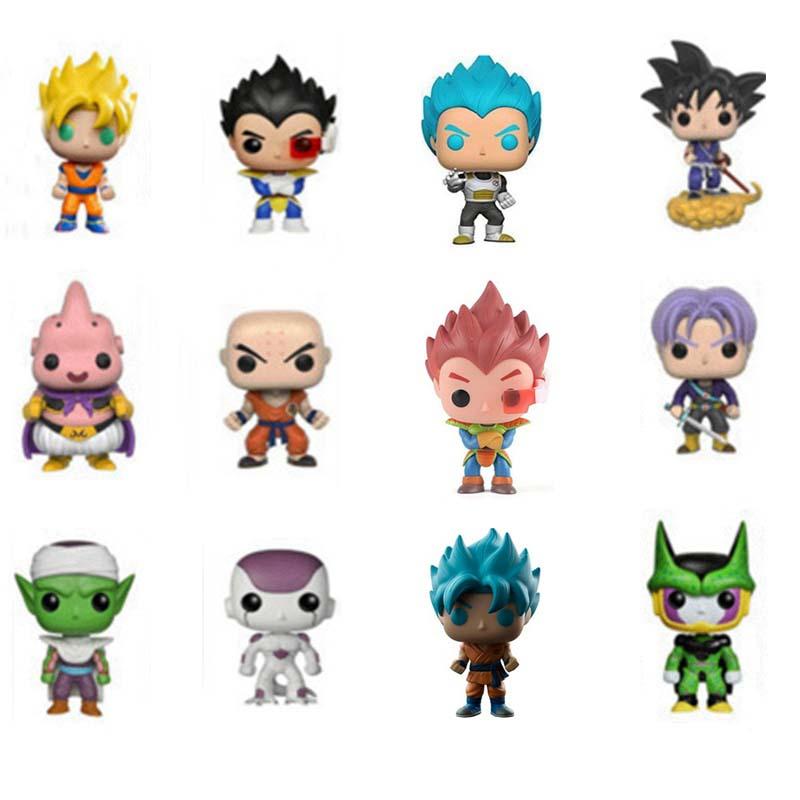 10cm Dragon Ball Toy Dragonball Z Son GOKU Frieza Piccolo VEGETA POP Action Figure Doll For kids Christmas Gifts NO box