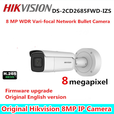 Hikvision DS-2CD2685FWD-IZS 8MP H.265+ WDR Vari-focal Bullet IP Camera 2.8-12mm Face Detection IP67 1K10 CCTV Security Camera зимняя шина nokian hakkapeliitta 8 suv 265 50 r20 111t