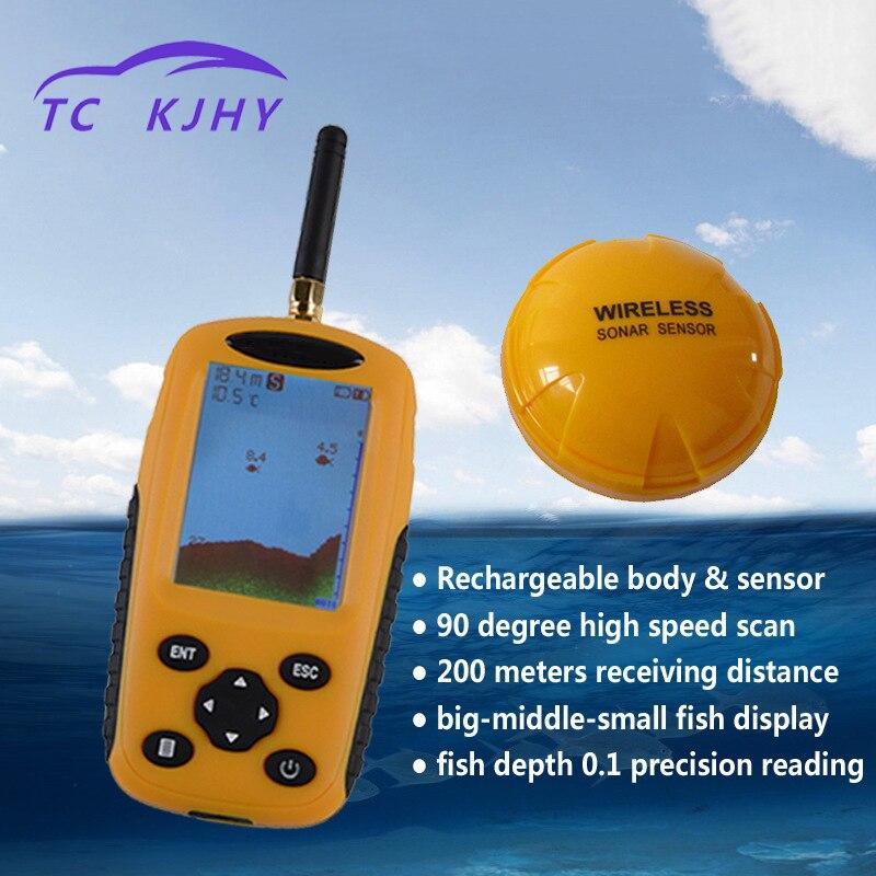 Haute précision Version de charge Auto 105 degrés eau boueuse grand poisson sans fil Marine GPS couleur écran Dot Matrix détecteur de poisson