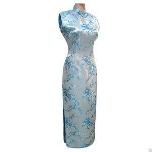 Image 3 - Vestido largo de satén con cuello Halter para mujer, Cheongsam Qipao, Mujere, Vestido tradicional chino, negro y rojo, talla de flor S, M, L, XL, XXL, XXXL, J3035