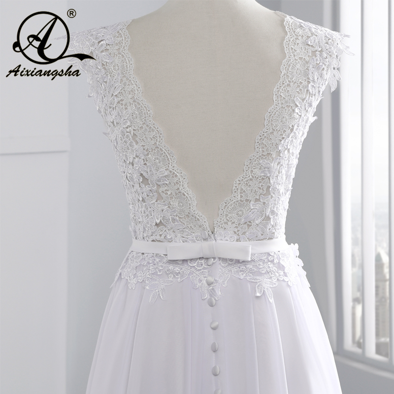 2018 Hot Selling Custom Made A Line Bröllopsklänningar Vestido de - Bröllopsklänningar - Foto 4