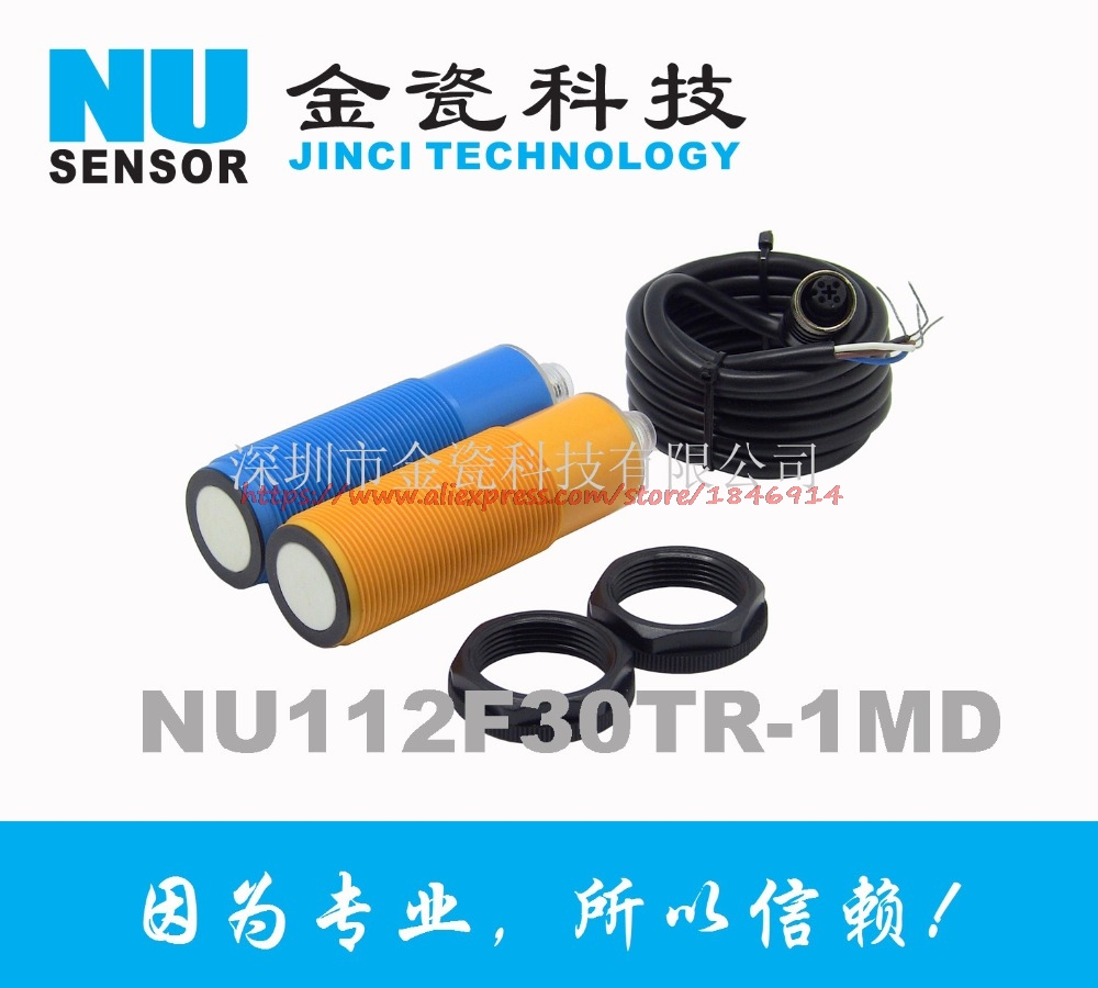 Livraison gratuite kit de mesure de distance à ultrasons NU112F30TR-1MD capteur à ultrasons à sortie analogique
