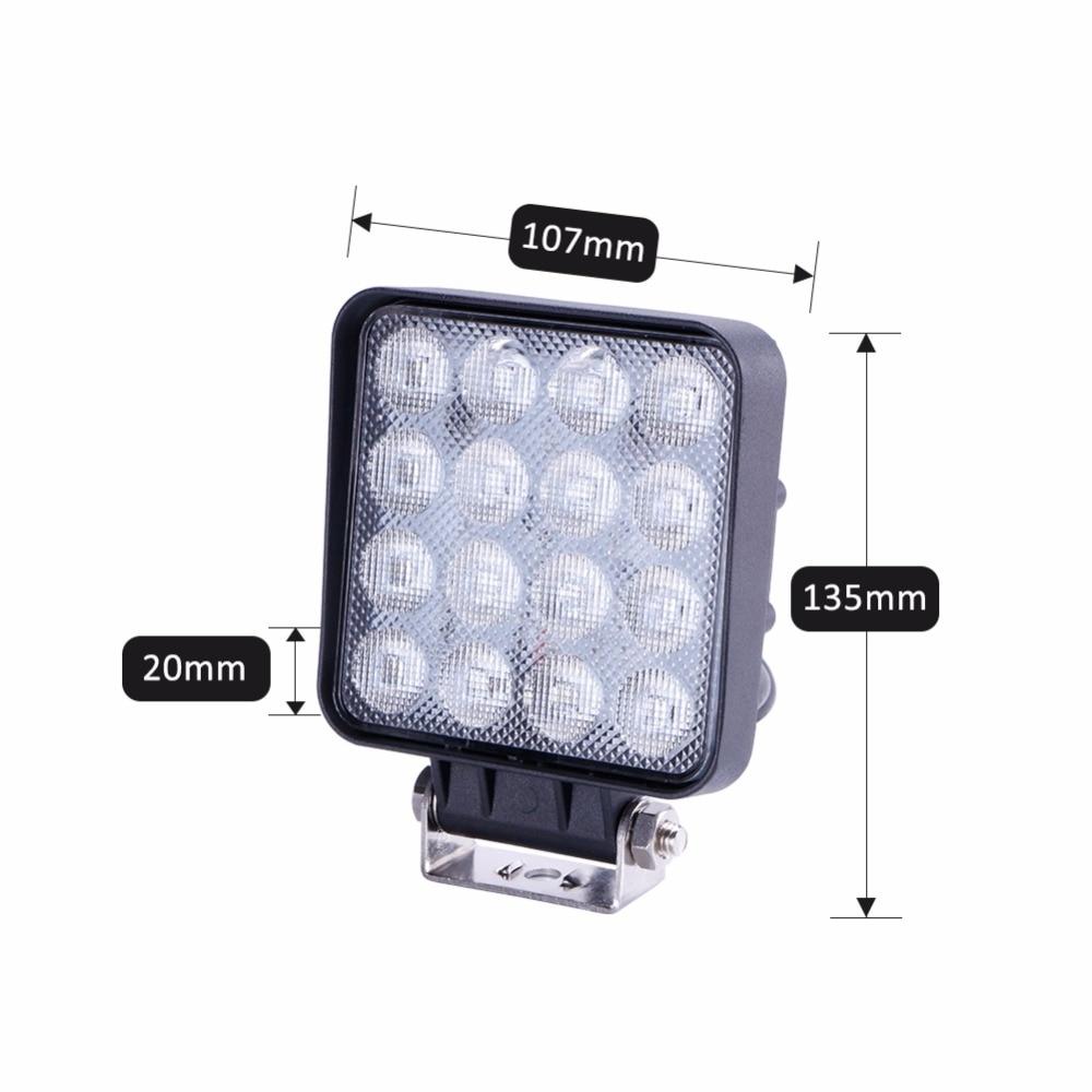 TC-X LED 48W İş İşıq Meydanı LED Daşqın İşıq Bar 4x4 - Avtomobil işıqları - Fotoqrafiya 6