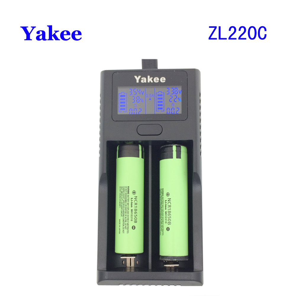 Yakee ZL220C Smart LCD USB Battery Charger for Li ion 26650 18650 18500 18350 17670 16340