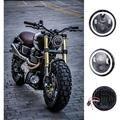 """5.75 """"45 W 6000 K LED de La Motocicleta Proyector Del Faro 12 V 24 V Hi-lo Haz Moto Daymaker para Harley Sportster Dyna Softail V-rod"""