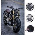 "5.75 ""45 W 6000 K Motocicleta Farol Projector LED 12 V 24 V Hi-Lo Feixe De Moto Daymaker para Harley Dyna Sportster Softail V-haste"