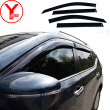 купить 2015-2017 door window visor For NISSAN X-Trail 2015 2016 2017 black car wind deflectors For X-Trail T30 2015+ YCSUNZ по цене 3575.05 рублей