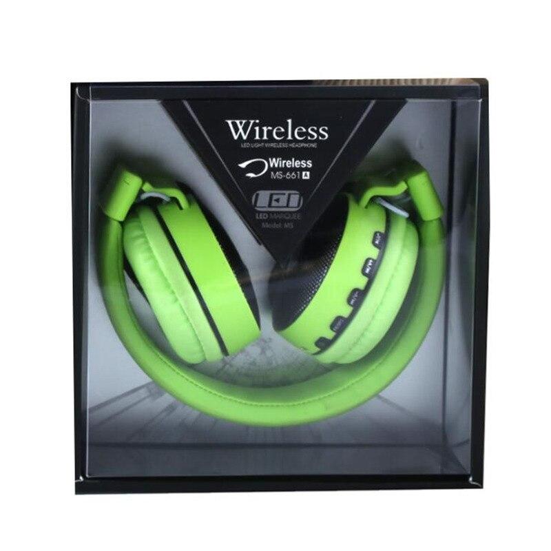 MS661 LED casque sans fil Bluetooth casque V4.2 écouteurs casque écouteurs avec Microphone pour PC lecteur de musique de téléphone intelligent
