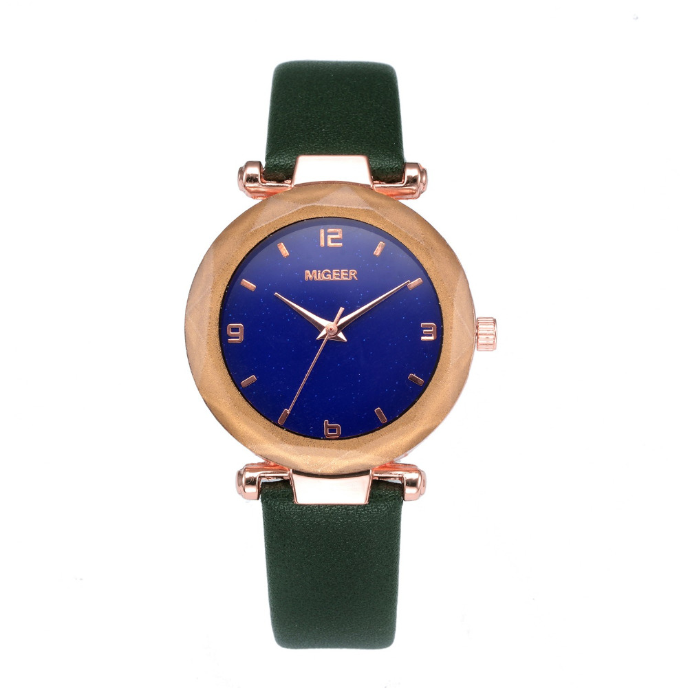 Watches 2019 New Fashion Casual Black Quartz Women Men Leather Star Dial Clock Bracelet Wrist Watch Ladies Watches Femme Hot Sell Ass Activating Blood Circulation And Strengthening Sinews And Bones