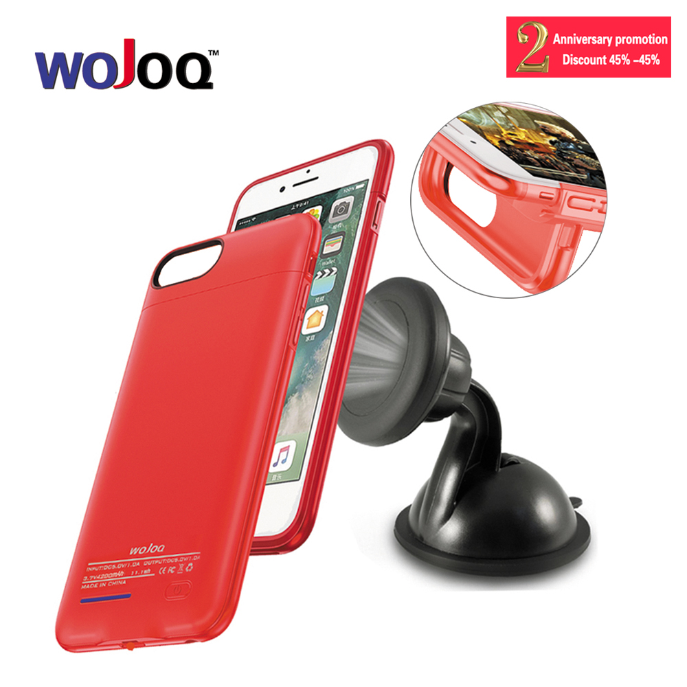 WOJOQ Battery Case For iPhone 6 6s 7 Power Bank Charing Case For iPhone6 6s 7 Plus Battery Charger Case Cover 3000mAh/4000mAh