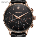 OCHSTIN Fashion Men Watches Top Brand Luxury CHRONOGRAPH Leather Sport Watches Men Clock Quartz Wrist Watch Relogio Masculino