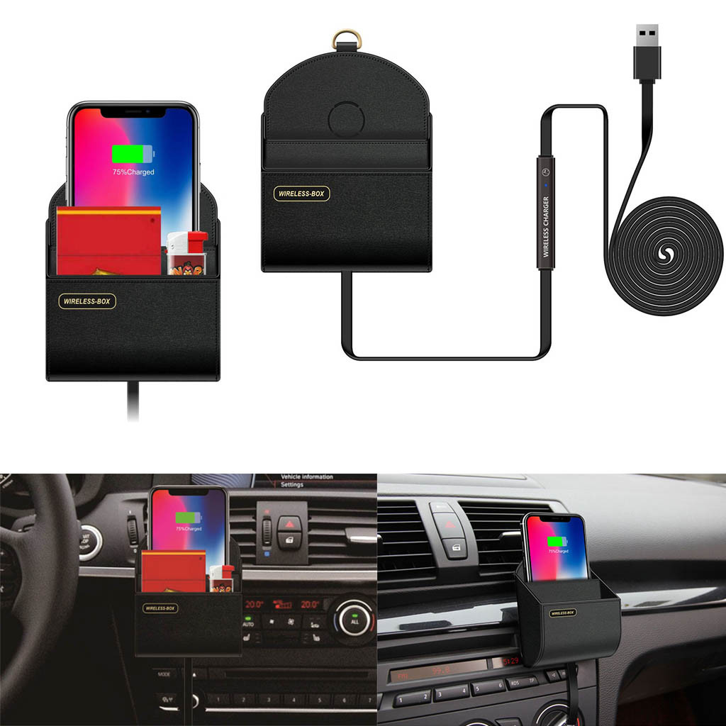 New Wireless Charger Storage Box Car Charging Dock Station for iPhone for Samsung S9 Note 9 for LG G7 For Iphone XS/XS Max/XR-in Car Chargers from ...
