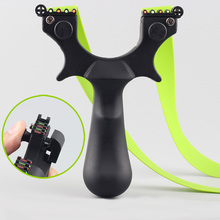 High Quality Slingshot of Resin Flat Rubber Band 4 Aiming Accurate for Hunting Shooting Outdoor Archery Catapult