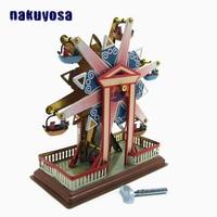 Ferris wheel Children Vintage Tin Toy Reminiscence Metal Wind Up Toy Surprise Birthday Present Clockwork Toys For Adult Kids