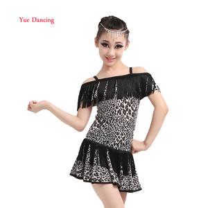 3bc83397c666 Latin Dance Dress Salsa Top Skirts Children Girls Costumes