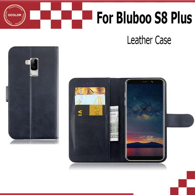 new style 3a8fe 5fd6f US $2.94 41% OFF|ocolor For BLUBOO S8 Plus Flip UP Leather Case With  Sticker Mobilephone Skin Cover Replacement For BLUBOO S8 Plus Free  Shipping-in ...
