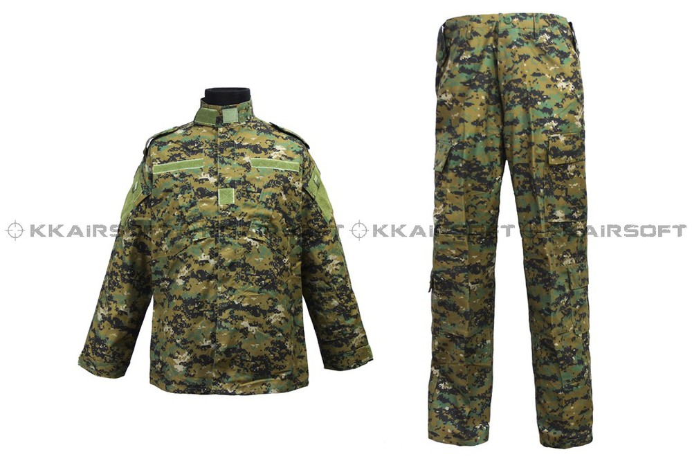 Us Army Military Uniform For Men Army Suit Clothing Digital Green Camo CL-02-DGC
