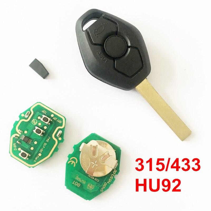 3 Buttons Remote Key For BMW 3 5 7 SERIES E34 E36 E38 E39 E46 E53 X3 X5 Z3 With Chip, 315433MHZ, HU92 Balde
